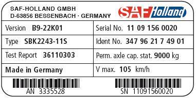 Идентификация оси SAF
